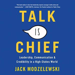Talk Is Chief audiobook cover art