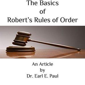 The Basics of Robert's Rules of Order audiobook cover art