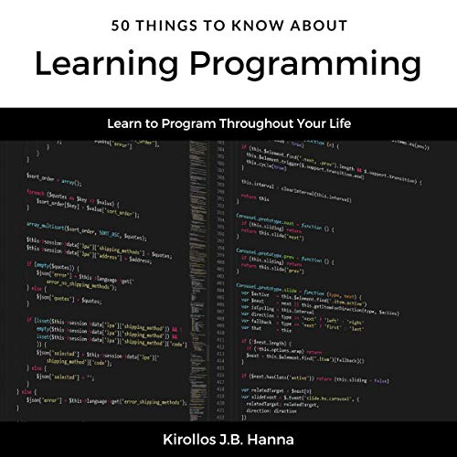 50 Things to Know About Learning Programming Audiobook By Kirollos J.B. Hanna, 50 Things to Know cover art