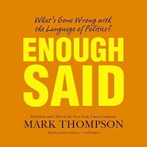 Enough Said Audiobook By Mark Thompson cover art