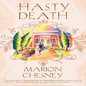 Hasty Death Audiobook By Marion Chesney cover art