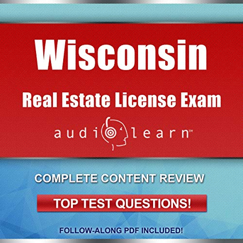 Wisconsin Real Estate License Exam AudioLearn Audiobook By AudioLearn Content Team cover art
