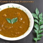 Curry-leaves-kuzhambu-recipe