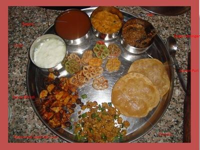 south indian thali