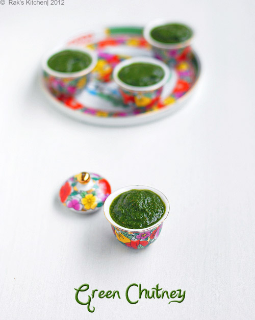 mint coriander green chutney