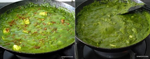 step 8 palak paneer recipe