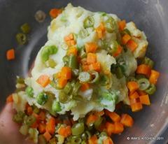 Vegetable cutlet prep1a