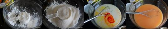 Corn flour halwa recipe step 1