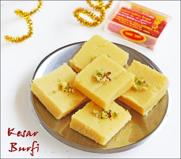 Khoya-kesar-burfi-recipe