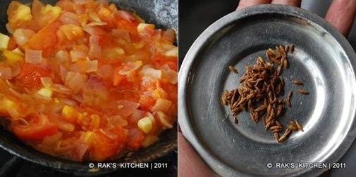 fry onion tomato-jeera