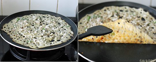 How to make onion rava dosa step 2