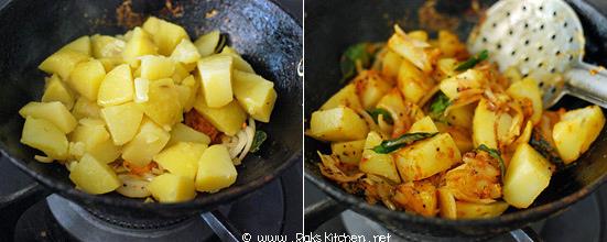 how to make potato curry step2