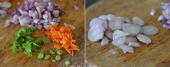 Onion utappam recipe step 1