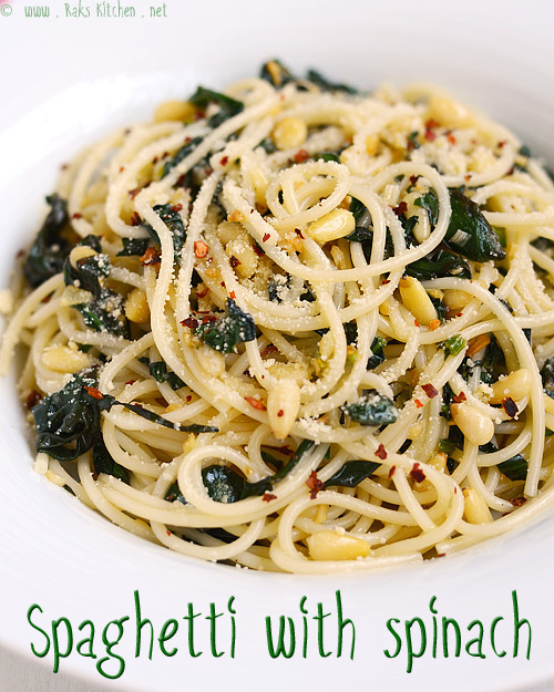 spaghetti-spinach-garlic