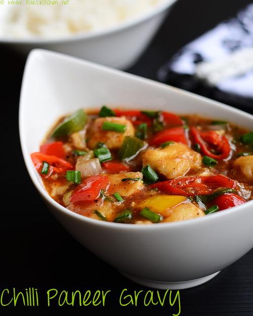 chilli paneer gravy recipe