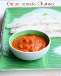 onion tomato chutney recipe - red chutney for dosa