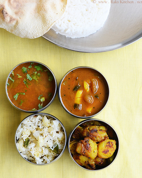 Lunch Menu 21 South Indian Lunch Combo Raks Kitchen