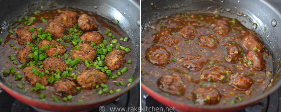 How to make veg manchurian gravy step 6
