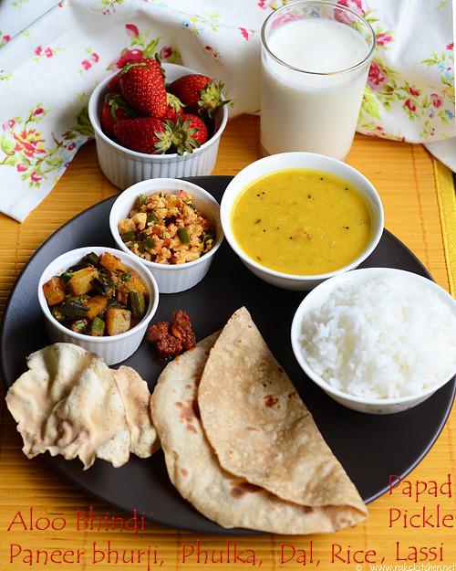 dal-rice-aloo-bhindi
