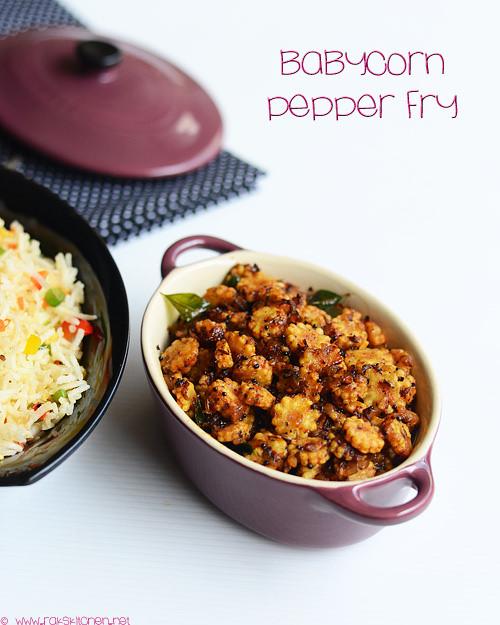 baby corn-pepper-fry