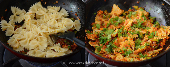 How to make indian style masala pasta step 7