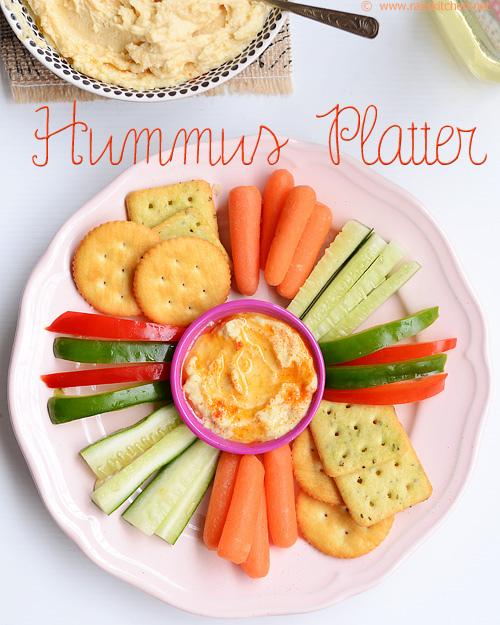 Hummus-platter