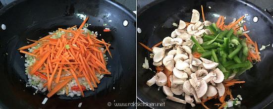 Step 2 mushroom fried rice recipe