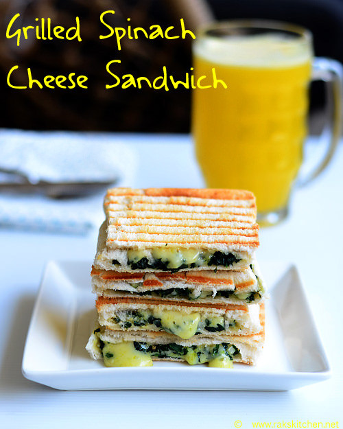 grilled-spinach-cheese-sandwich