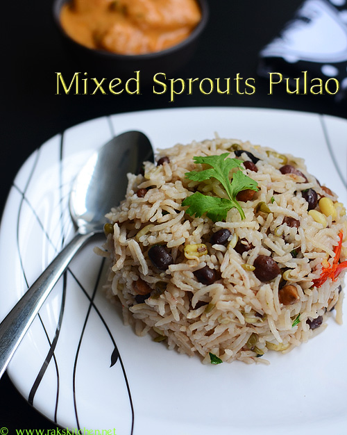 Mixed Sprouts Pulao Recipe