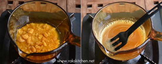 Wheat rava sweet pongal step 4