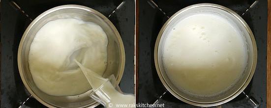 step 1 tender coconut payasam