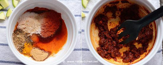 Cut mango pickle recipe step 3