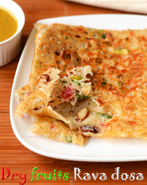 dry-fruits-rava-dosa-recipe