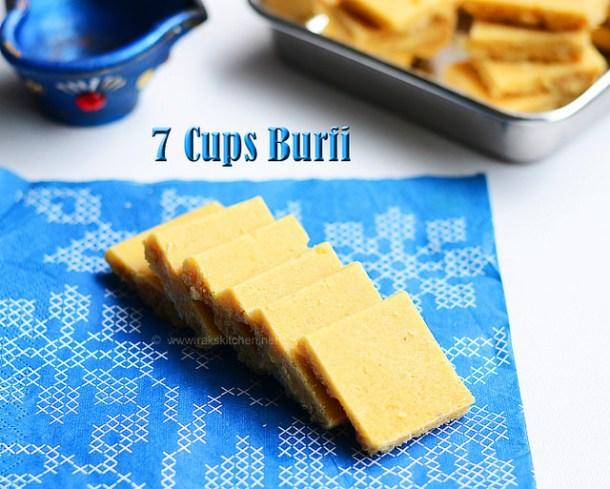 7 cups burfi recipe, 7 cup cake, Easy Diwali recipes ...