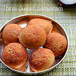 Millet sweet paniyaram