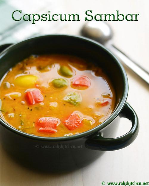 capsicum-sambar