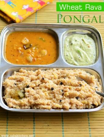 wheat rava pongal recipe