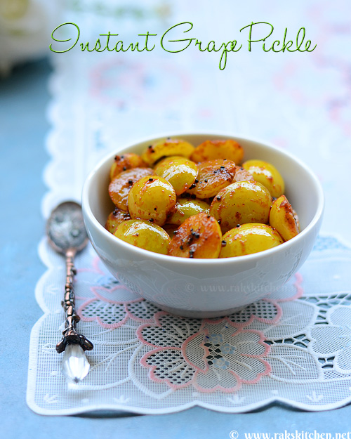 Instant grapes pickle