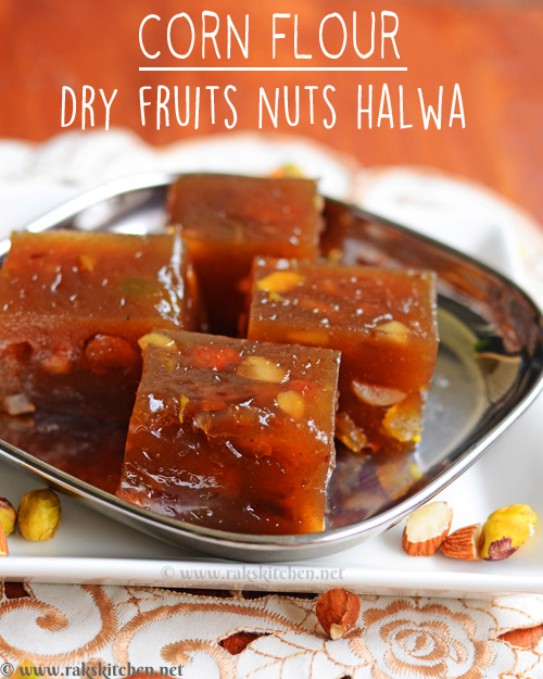 corn-flour-halwa-dry-fruits-nuts