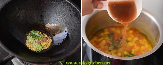 How to make cauliflower rasam 3