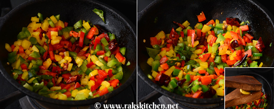 how to make capsicum rice 2