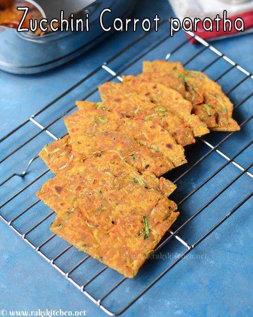 Zucchini carrot paratha recipe