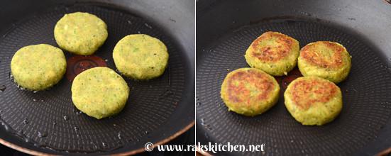 Broccoli sweet potato tikki step 7