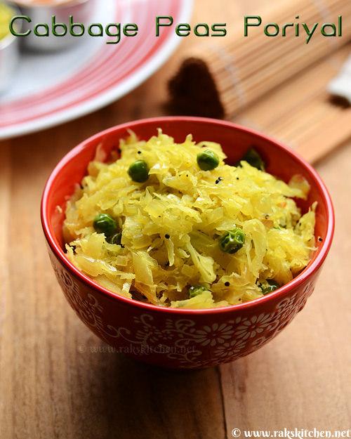 cabbage-peas-poriyal