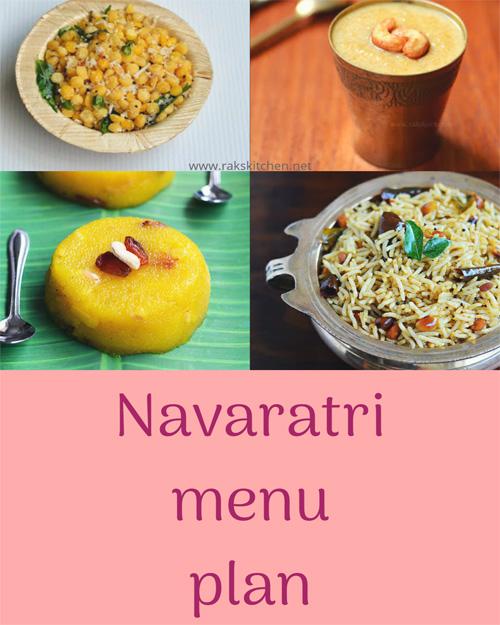 Navaratri Menu Plan For 9 Days Raks Kitchen