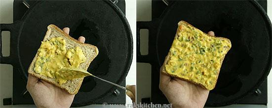 Besan bread toast step 3