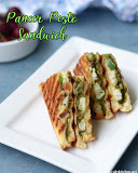 Paneer pesto sandwich recipe