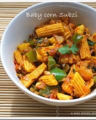 Baby corn subji