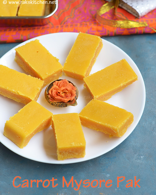 Carrot-mysore-pak-recipe