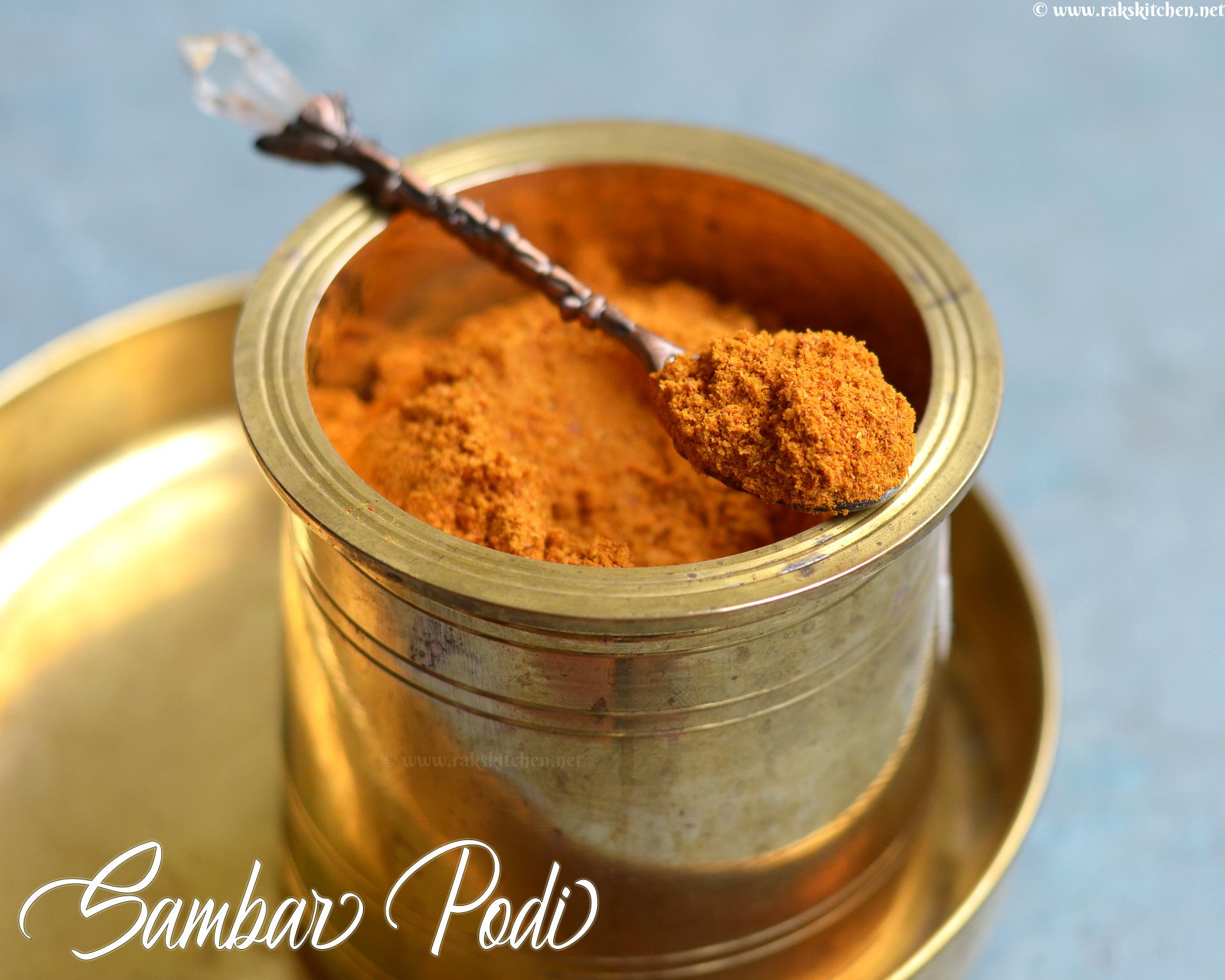 Sambar podi recipe, Homemade sambar powder
